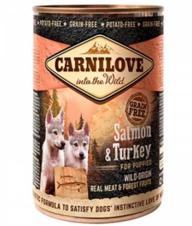 Carnilove Puppy k 400 g с лососем и индейкой для щенков