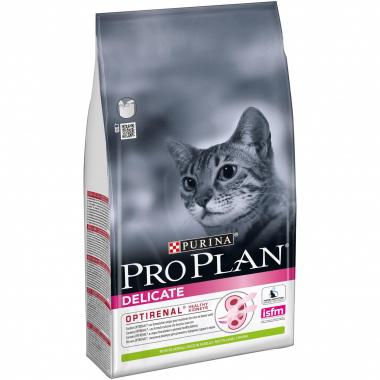 Purina Pro Plan Delicate Adult Lamb сухой суперпремиум корм с ягненком для взрослых кошек с чувствительной кожей и пищеварением