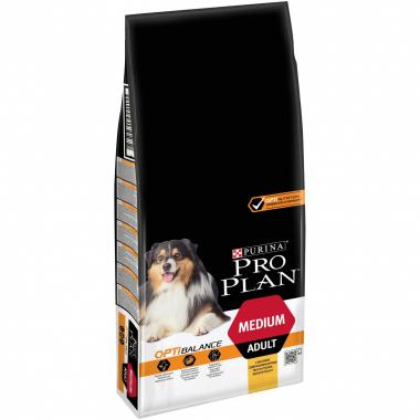 Purina Pro Plan ADULT MEDIUM Optihealth Сухой корм с курицей для взрослых собак средних пород