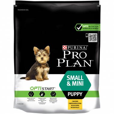 Purina Pro Plan PUPPY SMALL and MINI Optistart сухой корм для щенков мини мелких и карликовых пород