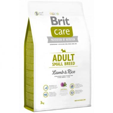 Brit Care Adult Small Breed Lamb&Rice сухой корм с рисом и ягненком для взрослых собак мелких пород