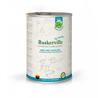 Baskerville Holistik Консервы для собак лосось и говядина с пастернаком, шпинатом и зеленью