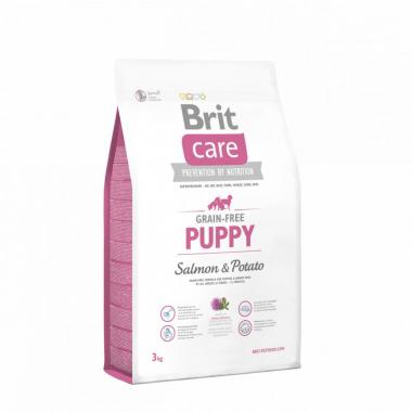 Brit (Брит) Care Grain-free Puppy Salmon сухой беззерновой корм с лососем для щенков и молодых собак всех пород