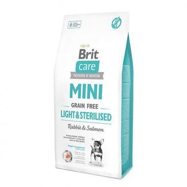 Brit (Брит) Care Grain-free Mini Light&Sterilised сухой корм с кроликом для кастрированных стерилизованных собак и собак с лишним весом