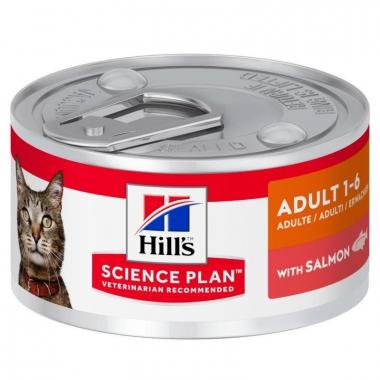 Hill's (Хиллс) Wet SP Feline Adult Salmon Консервы с лососем для взрослых кошек всех пород 82 гр