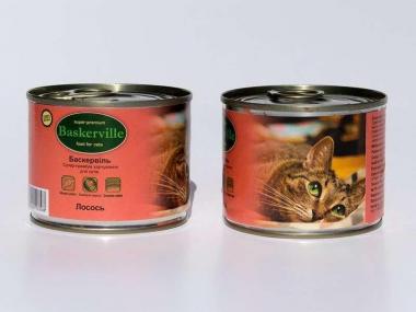 Baskerville Лосось консерва для котов