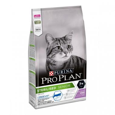 Pro Plan Sterilised Senior 7+ Сухой корм с индейкой для взрослых стерилизованных кошек старше 7 лет