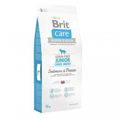 Brit (Брит) Care Grain-free Junior Large Breed Salmon сухой беззерновой корм с лососем для щенков молодых собак крупных и гигантских пород