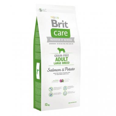 Brit (Брит) Care Grain-free Adult Large Breed Salmon сухой корм с лососем для взрослых собак крупных пород