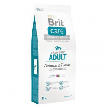 Brit (Брит) Care Grain-free Adult Salmon сухой корм с лососем для взрослых собак средних пород весом до 25 кг