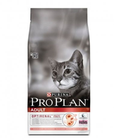 Purina Pro Plan Adult Salmon & Rice сухой суперпремиум корм для взрослых кошек с лососем