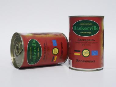 Baskerville Говядина консерва для собак