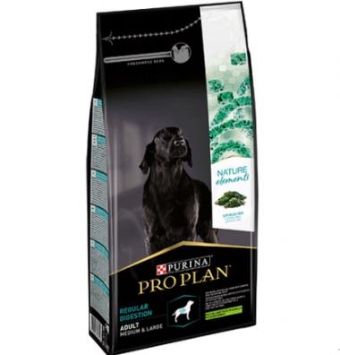 PURINA PRO PLAN Nature Elements Сухой корм с ягненком и спирулиной для взрослых собак средних и крупных пород Regular Digestion
