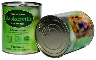Baskerville Баранина, Картофель, Тыква консерва для собак