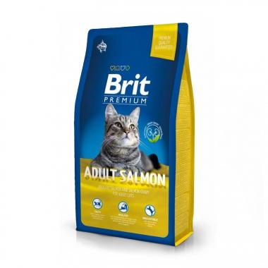 Brit Premium (Брит премиум) Cat Adult Salmon сухой корм с лососем для взрослых кошек
