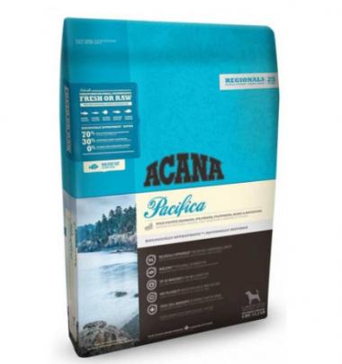 Acana Pacifica, лосось + камбала + сельдь Сухой корм холистик для взрослых собак и щенков всех пород и возрастов