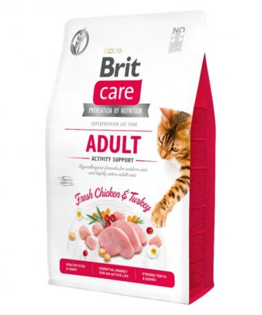 Brit Care Cat GF Adult Activity Support сухой беззерновой корм поддержка активности для взрослых котов