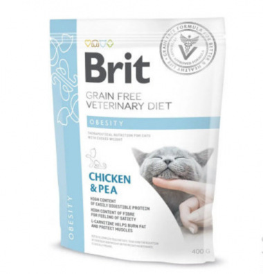 Brit (Брит) Veterinary Diets Cat Obesity сухой корм для котов при избыточном весе и ожирении
