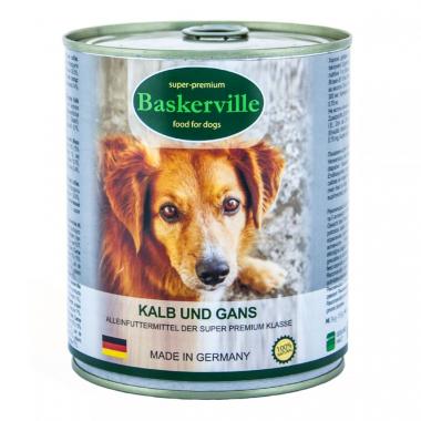 Baskerville Телятина и мясо гуся консерва для собак