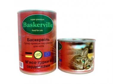 Baskerville Курица с сердцем консерва для котов