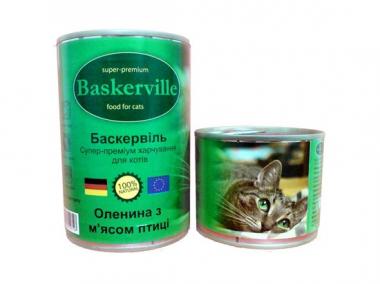 Baskerville Оленина консерва для котов