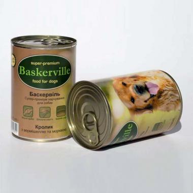 Baskerville Кролик, Вермишель, Морковь консерва для собак