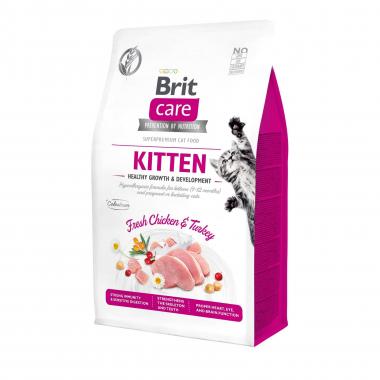 Brit Care Cat GF Kitten HGrowth & Development сухой беззерновой корм для котят всех пород