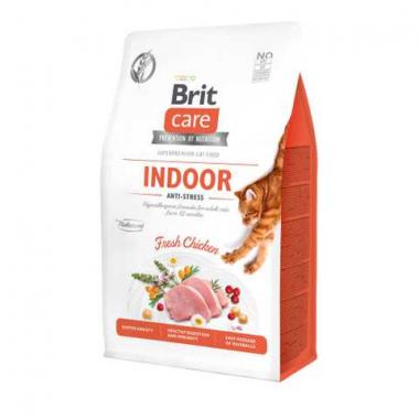 Brit Care Cat GF Indoor Anti-stress сухой беззерновой корм антистресс для взрослых кошек