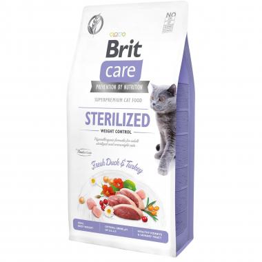 Brit Care Cat GF Sterilized Weight Control сухой беззерновой корм контроль веса для стерилизованных котов и кошек всех пород