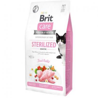 Brit Care Cat GF Sterilized Sensitive сухой беззерновой корм чувствительное пищеварение для стерилизованных кошек всех пород